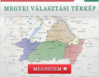 Megyei választási térkép